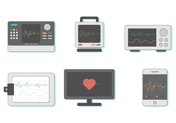 Free Heart Monitor Vector - Free vector #408333