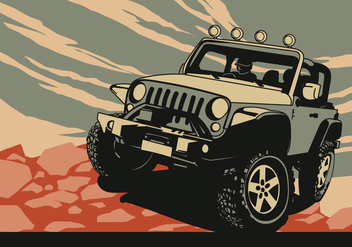 Adventure Jeep - Free vector #408353