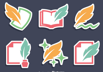 Writing Icons Vector - vector #408373 gratis