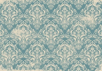 Blue Grunge Damask Background - Kostenloses vector #408403