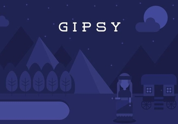 Gipsy Landscape Background - vector gratuit #408453