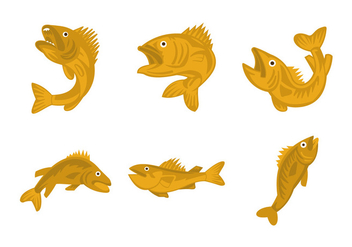 Walleye vector illustration - vector #408463 gratis