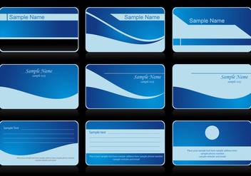 Vector Business Card Blue - vector gratuit #408553