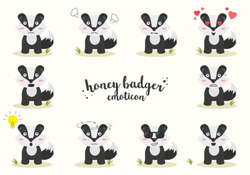 Free Honey Badger Vector - vector gratuit #408573