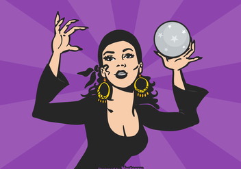 Free Vector Gipsy Fortune Teller - Free vector #408593