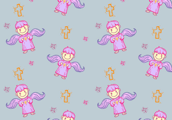 Free Bautizo Seamless Pattern Vector Illustration - Free vector #408653
