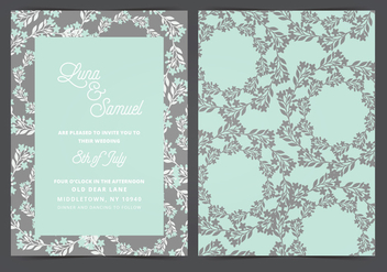 Vector Wedding Invitation - бесплатный vector #408703