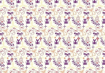 Christmas Pattern Free Vector - бесплатный vector #408783