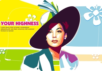 Your Highness in Popart Portrait - WPAP - Kostenloses vector #408793