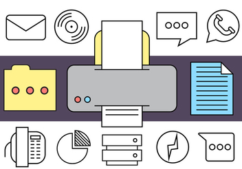 Free Office Icons - vector #408813 gratis
