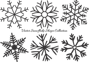 Vector Snowflake Shapes Collection - vector gratuit #408913