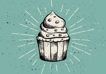 Free Vintage Hand Drawn Muffin Background - бесплатный vector #408973