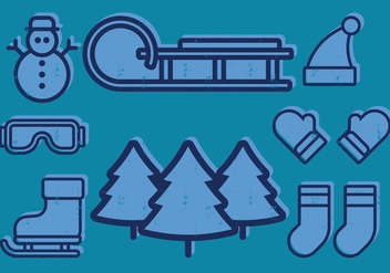 Winter Icons - vector #408983 gratis