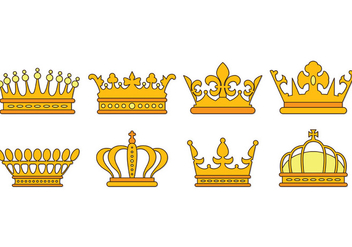Set Of British Crown Icons - vector gratuit #409003