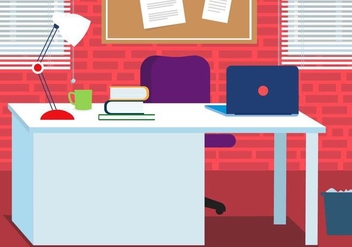 Free Work Vector Desk - Kostenloses vector #409053
