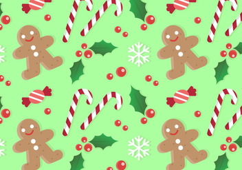 Free Christmas Pattern Background - бесплатный vector #409083
