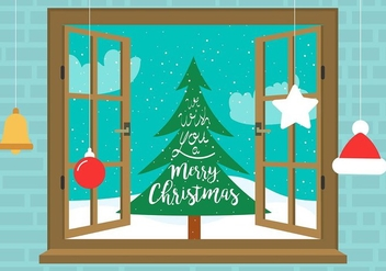 Free Vector Christmas Window - Free vector #409093