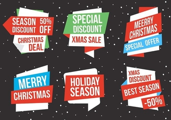 Free Vector Christmas Labels - Free vector #409103