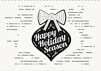 Free Vintage Hand Drawn Christmas Card Vector - vector #409113 gratis