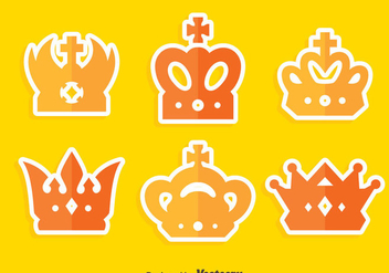 Flat British Crown Collection Vector - Kostenloses vector #409153