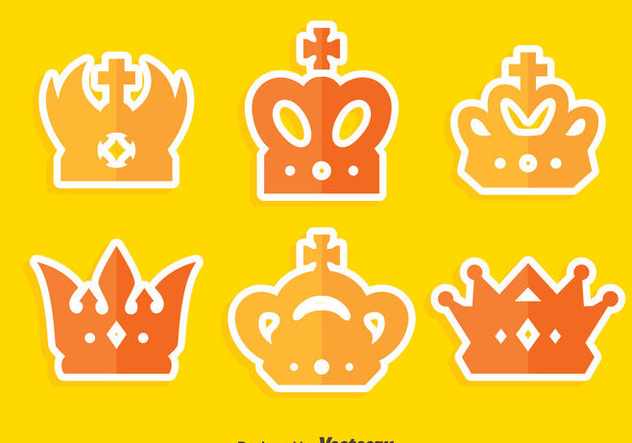Flat British Crown Collection Vector - бесплатный vector #409153