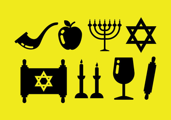 Free Shabbat Icons Vcetor - Free vector #409263