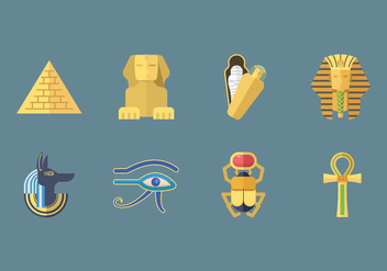 Free Ancient Egypt Icons - бесплатный vector #409313