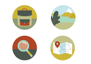 Travel Vector Icons - vector gratuit #409333