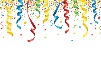 Party Popper Background - vector gratuit #409353