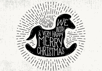 Free Christmas Greeting Card Vector - Kostenloses vector #409423