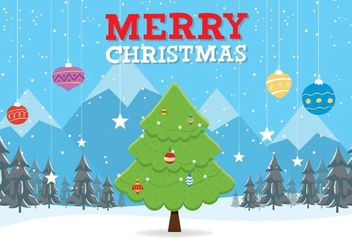 Free Christmas Vector Background - Free vector #409433