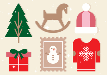 Free Vector Christmas Design Elements - Kostenloses vector #409493