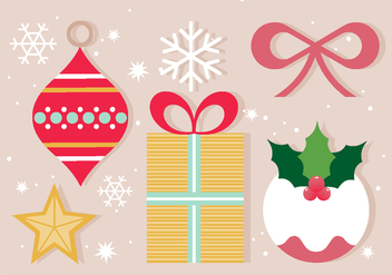 Free Vector Christmas Icons & Elements - бесплатный vector #409503