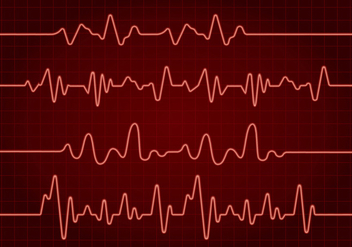 Flatline Red Free Vector - vector gratuit #409543