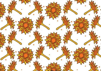 Hand Drawn Calendula Seamless Pattern - Free vector #409603