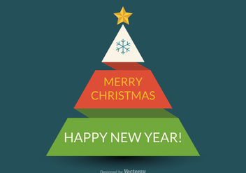 Free Flat Vector Origami Christmas Tree - Free vector #409623