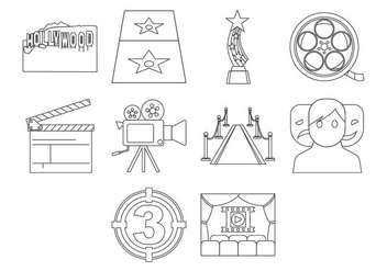 Free Hollywood Icon Vector - Kostenloses vector #409793