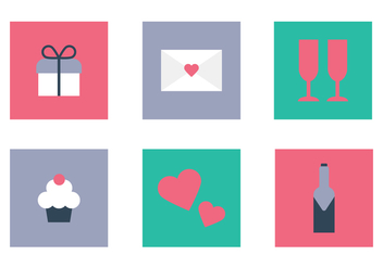 Valentine's Day Icons - vector #409813 gratis