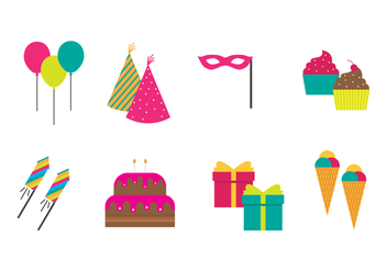 Free Party Icons Vector - Free vector #409843