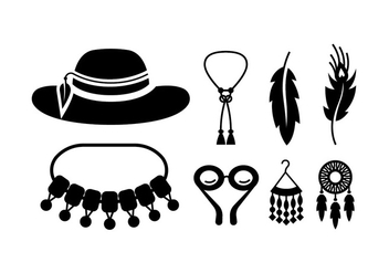 Boho / gypsy stuff vectors - бесплатный vector #409883