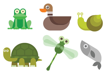 Free Swamp Animals Vector - бесплатный vector #409893