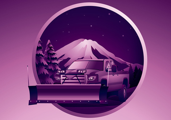Snow Plow Free Vector - бесплатный vector #410003