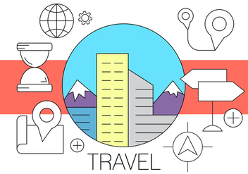 Free Travel Icons - vector #410023 gratis