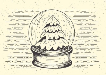 Free Vector Christmas Snow Ball Illustration - Free vector #410033
