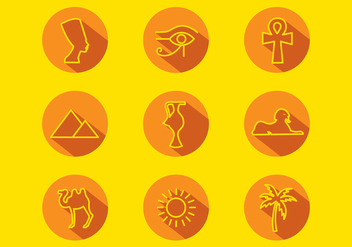Piramide Icon Set Free Vector - vector #410123 gratis