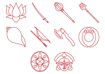 Free Durga Icon Vector - бесплатный vector #410173