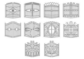 Free Gate Icon Vector - vector gratuit #410183