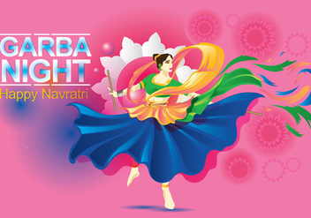 Vector Design of Woman Playing Garba Dance - Free vector #410233