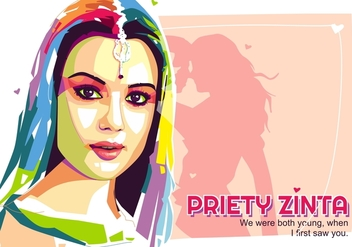Priety Zinta - Bollywood Life - Popart Portrait - Kostenloses vector #410263