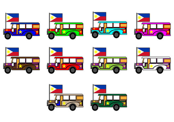 Free Philippine Jeep Icon Vector - vector gratuit #410313